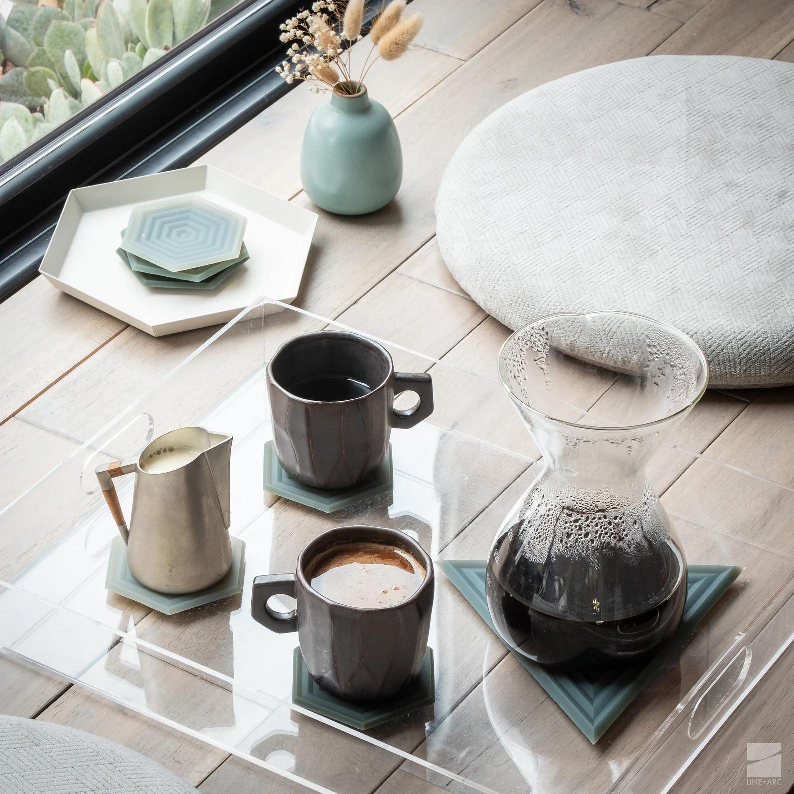 Modern Gift Ideas - Set of 6 silicone coasters.