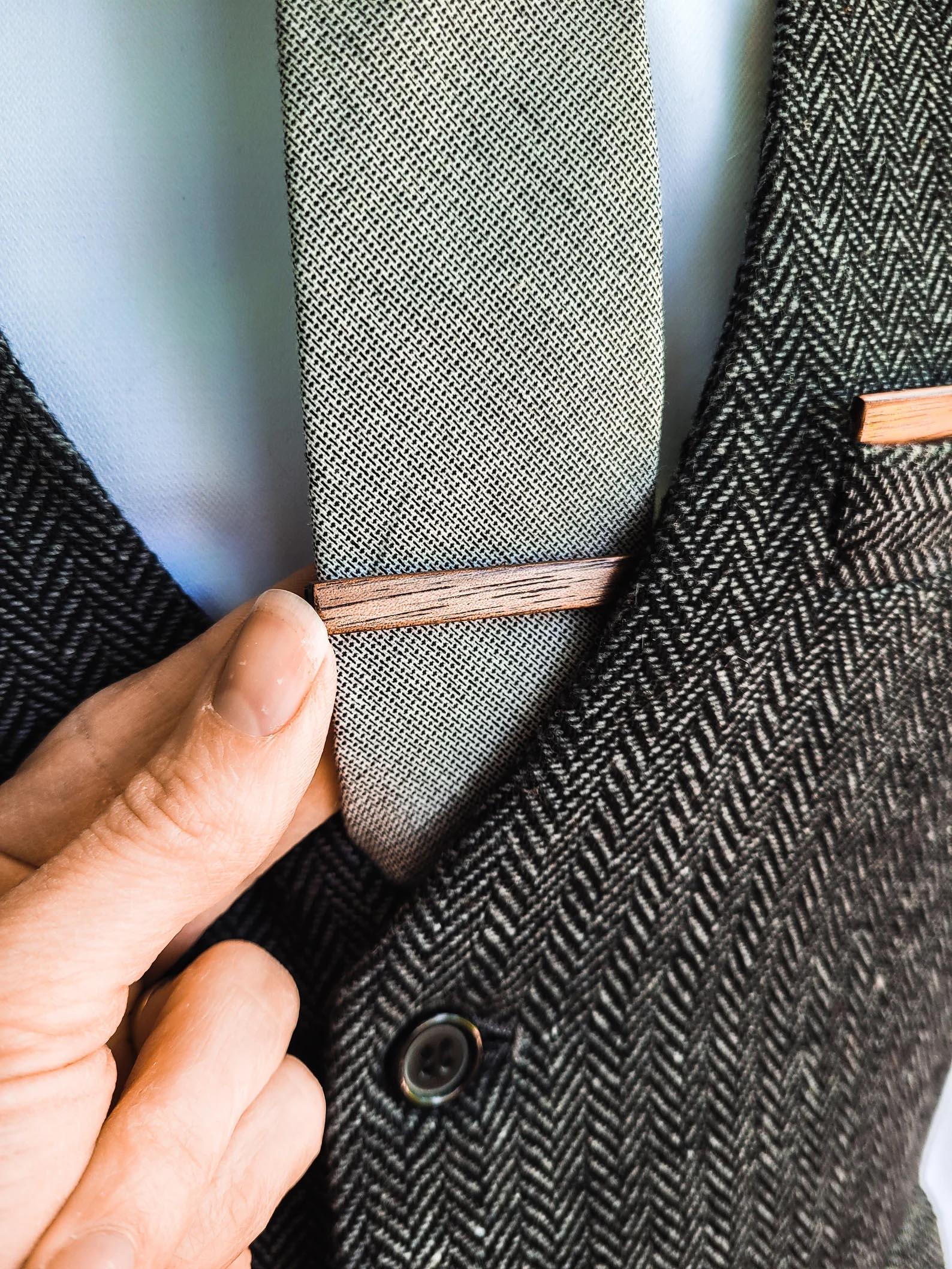 Modern Gift Ideas - Wooden tie clip.